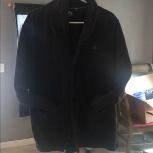 Vintage Looking All Black LRG Cardigan Size Large